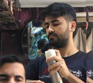 آرایشگر مردانه در منزل