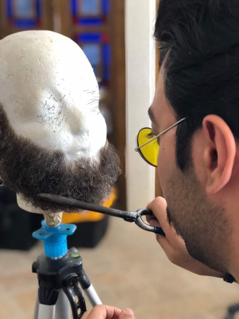 ریش مصنوعی با موی طبیعی